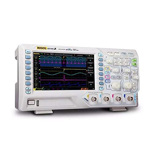 NO BRAND Osciloscopio Digital Digital 4 Canales de 50 MHz de Ancho de Banda de 1 GS/s de 7 Pulgadas WVGA 12Mpts 30000wfm osciloscopio (Color : Blanco, tamaño : Un tamaño)