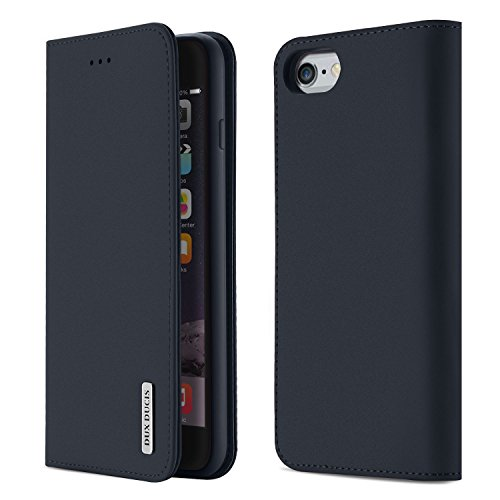 【WISH Series 高級牛革】iPhone6s ケース iPhone6 ケース 手帳型 本革 アイフォン6s アイフォン6 カバー 全面保護 磁石付き カード入れ スタンド機能 耐衝撃 耐摩擦 人気 おしゃれ ギフトボックス付き (iPhone6s/iPhone6 ネイビーブルー)