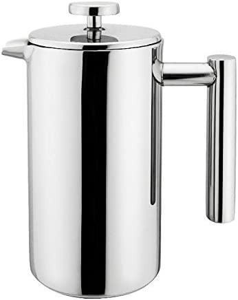 Small Stainless Award-winning store Steel French Press - 12 Pr Coffee Plunger ounce Fort Worth Mall