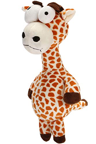 HOLECO Dog Plüschtiere Quietschendes Spielzeug Interaktiv für kleine und mittlere Hunde (Giraffe)