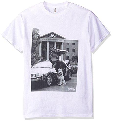 Back To The Future II - Retour vers le futur II - Einstein de T-shirt, X-Large, White