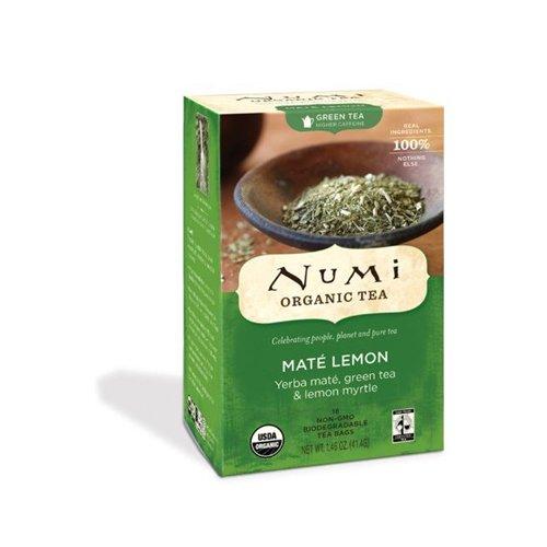 Pack of 3 x Numi Tea Mate Lemon Rainforest Green Tea - 18 Bags