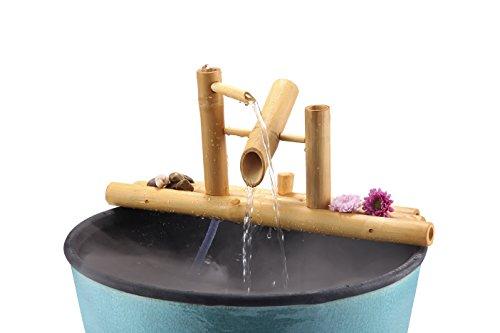 "Lifegard Aquatics R440860 Bamboo Rocking Fountain-Complete with Pump/Tubing, 8"", Brown"