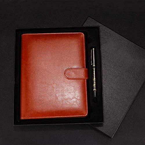 N\C Cuaderno de Cuero Simple Creativo, Caja roja