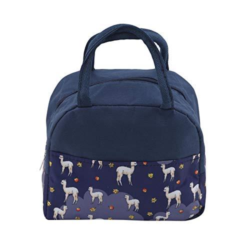 Yinew Lunch Tote Bag Sac isotherme large ouvert pour femmes, hommes, adultes et enfants,Alpaga violet