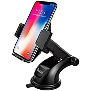 Beikell Car Phone Holder, Car Phone Mount Cradle - Phone Holder for Car with One Button Release and Strong Sticky Gel Pad for iPhone X/8/7, Samsung Galaxy S7 S6 Note 5/4, Huawei and More