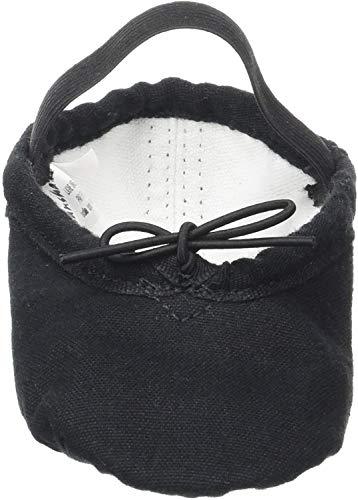 Sansha - Zapatillas de ballet unisex con suela de piel dividida para niños y adultos, tutú Split 5C (negro, Reino Unido, color Negro, talla 28 EU