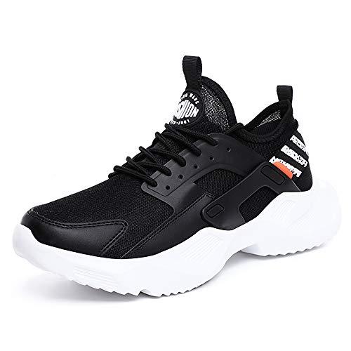 MOLINGXUAN Sportschuhe der Männer Breathable beiläufige Schuhe Netz rutschfest Wilde Urlaubsreisen Schuhe leichte MD Laufschuhe,Schwarz,42UE