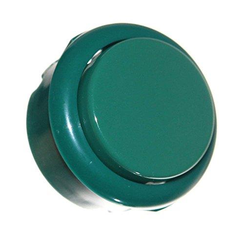 1 Taster Gehäuse mit Mikroschalter Grün 33mm Einbautaster round Green Automaten Button Neu Micro-Switch Flipper Joy-Button