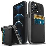 Vena Legacy Bloqueo RFID Anti-Robo Funda Cartera Compatible con Apple iPhone 12 Pro MAX (6.7'-Inch), (Magsafe Compatible, 2 Ranuras para Tarjetas) Carcasa de Cuero Case con Función de Soporte - Gris