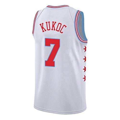 YHIU Toni Kukoc Chicago Bulls Basketballtrikots, Mesh Basketball Swingman Trikot, großartiges Material # 7-L