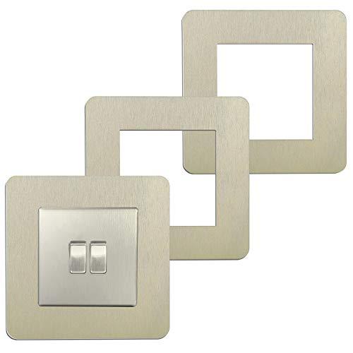 (3 Piezas) Pegatinas Interruptor Acrílico Cubierta Protectora Pegatinas de Pared Juegos de Interruptores Moderno Minimalista Decorativo Cubierta Interruptor Desechable