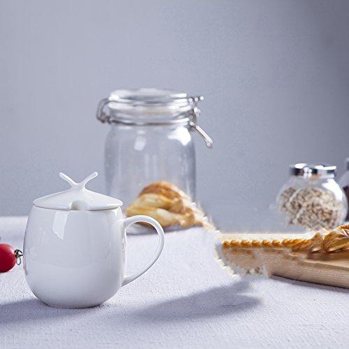 qwert Tasse de thé,Tasses à café Tasse Blanche Simple Tasse en Porcelaine Tasse de Lait Ménage étude Thé de Bureau-B