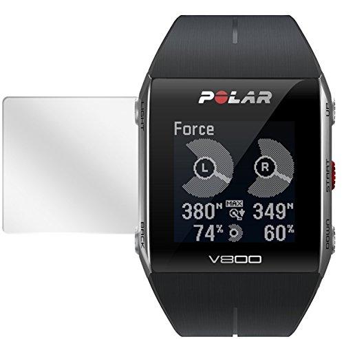 dipos I 6X Schutzfolie klar kompatibel mit Polar Trainingscomputer V800 Folie Bildschirmschutzfolie