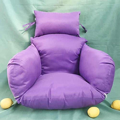 Outdoor Hangstoel Kussen, rieten rotan schommelstoel kussen dikke nest hangstoel terug met kussen Outdoor verwijderbare roos rood 50x53cm Kleur: C, Maat : 50x53cm(20x21inch)