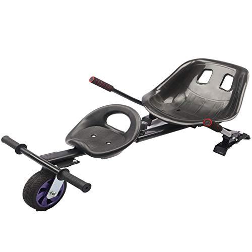 Silla para Hoverboard Doble,Electrico Hover Kart Ajustable para Patinete Eléctrico Asiento Kart...