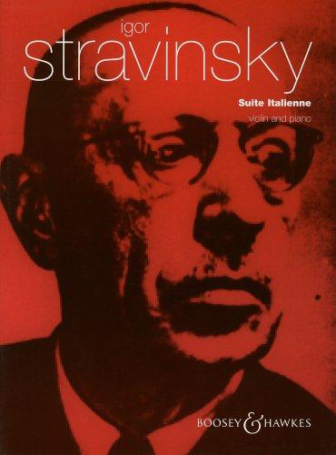 ストラヴィンスキー: イタリア組曲/ブージー & ホークス社/ピアノ伴奏付バイオリン・ソロ楽譜