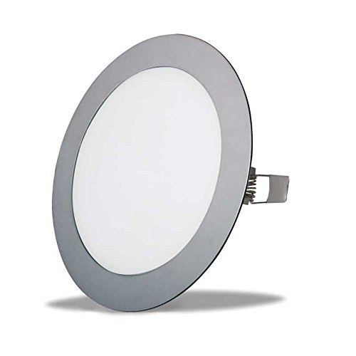 DOWNLIGHT LEDSTAY LS-102118 - Led redondo empotrable, 18W, hasta 1620 lúmenes 220V, acabado plata, luz fría (6000 K)