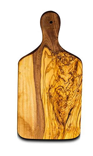 Pequeña tabla de cortar de madera de olivo, aprox. 21 cm, para la cocina, bocadillos, desayuno o decoración de mesa