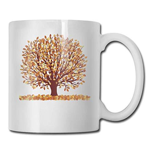 Lustige Kaffeetasse Herbstbaum Clipart Kaffee Teetasse Einzigartiges Festival Geburtstagsgeschenk für Männer Frauen