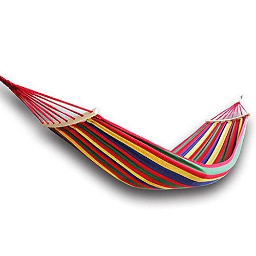 QAZSE Outdoor Vrije tijd Camping Patio Balkon Slaapzaal Producten Met Anti-Rollover Hout Hangmat