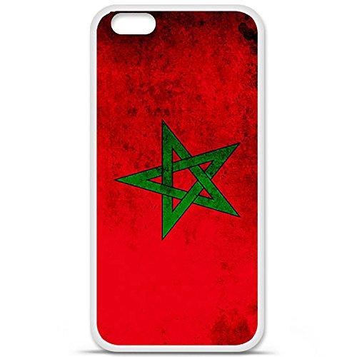 Cover per Apple iPhone 6 Plus/6S Plus, in silicone gel, protezione posteriore, motivo: bandiera Marocco