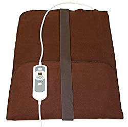 """Natural Relief Extra Large Digital Moist Heating Pad with Coral Sand - Automatic Moist Heat - Auto Shut Off - Strap - FDA Approved - Negative Ion (27""""x14"""")"""