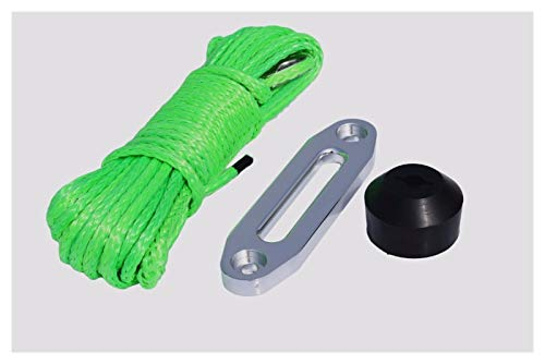 Fort Tire Green 6mm * 15m Spectra Winch Rope Añadir 4500 Lbs...