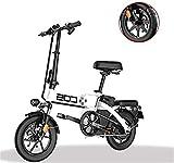 Bicicleta eléctrica de nieve, Plegable bicicleta eléctrica for los adultos, 14' bicicleta eléctrica / conmuta E-bici Con Motor 250W, 48V 28.8Ah batería, Ciudad de bicicletas Velocidad máxima 25 km / h