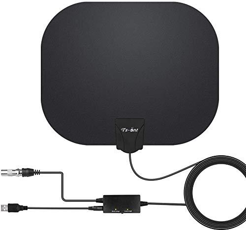 [2020 Upgrade] TV-Antenne mit stärkerem Empfang,Indoor-TV-Antenne 180KM Reichweite Smart Verstärke Signalverstärker,Geeignet für 1080P 4K Kostenlose TV-Kanäle, für DVB-T/DVB-T2-TV-Antenne