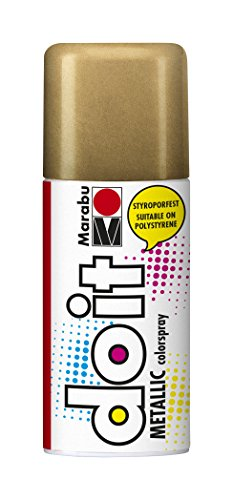 Marabu 21074006786 - Do it Metallic rotgold, Colorspray auf Acrylbasis für edle Metalleffekte, styroporfest, sehr schnell trocknend, sehr gute Deckkraft, wetterfest, 150 ml Sprühdose