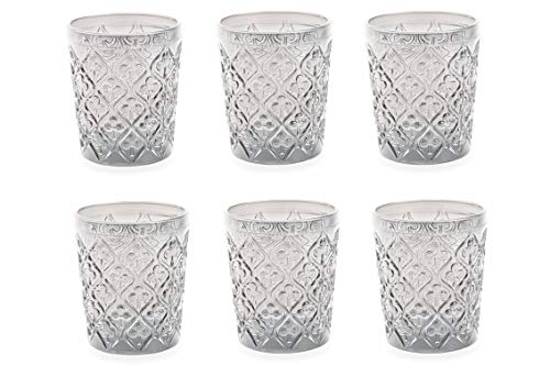 Villa d'Este Home Tivoli 2316396 Set Marrakech Bicchieri Acqua, Vetro, Trasparente