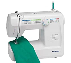MEDION Micromaxx (MD 13343) free-arm sewing machine with double needle (60 watt, sewing light, double needle, foot control, 60 programs) white