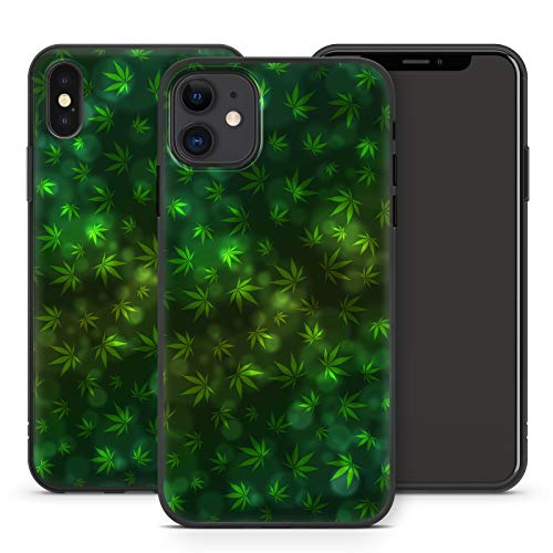 Handyhülle Cannabis Bang für Apple iPhone Silikon MMM Berlin Hülle Marihuana Weed Gras Hanf Canabis, Hüllendesign:Design 3 | Silikon Schwarz, Kompatibel mit Handy:Apple iPhone 11 Pro Max