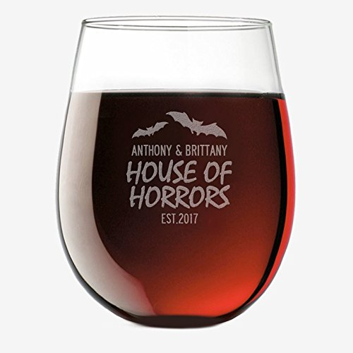 Personalisierte Direct House of Horrors Custom Weinglas Weingläser ohne Stiel