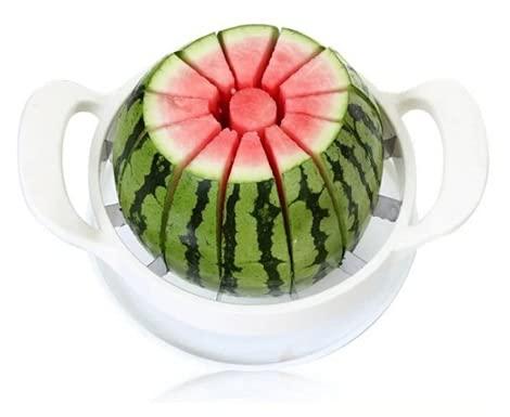 XKMY Rostfritt stål vattenmelon skärare fruktskärare vattenmelon skivare grönsaker hackare kökstillbehör vattenmelonkniv