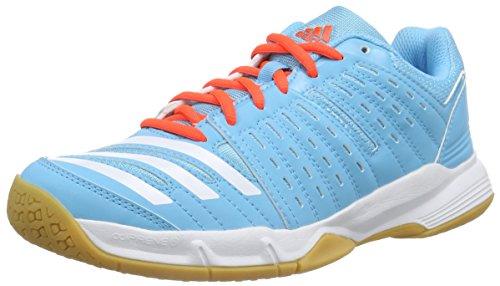 adidas Essence 12, Damen Handballschuhe, Blau (Bright Cyan/Bright Cyan/Solar Red), 39 1/3 EU