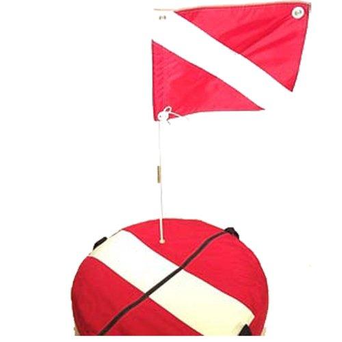 red flag with diagonal white stripe