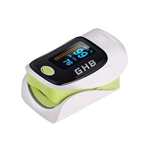GHB Pulsímetro de Dedo Oxímetro de Pulso Digital Pantalla LED Medidor de Sangre Oxígeno Frecuencia Cardíaca Para Adultos y Ninos