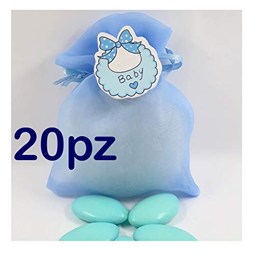 Sindy Bomboniere 8054382130 tassen geboorte doop, hars, lichtblauw, 4 x 2 x 4,5 cm