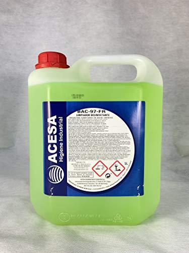 ACESA - Limpiador Multiusos DESINFECTANTE, BACTERICIDA, VIRICIDA Homologado BAC- 97FR - Certificado HA - Registro Sanitario 20-20/90-10516HA 5L