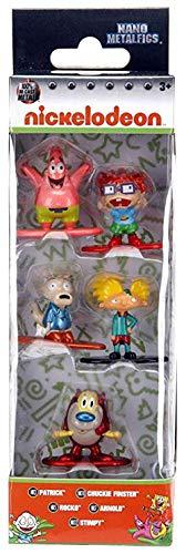 Jada Toys Nano Metalfigs 30415 Nickelodeon Wave 1 Metals Die-Cast Collectible Toy Figures (5 Piece), 1.65', Multicolor