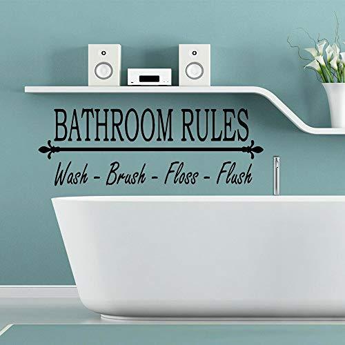 XCSJX Grandes Reglas de baño Pegatinas de Arte de Pared Pegatinas de Pared Material para habitación de niños Sala de Estar decoración del hogar Pegatinas de Arte 68x22 cm