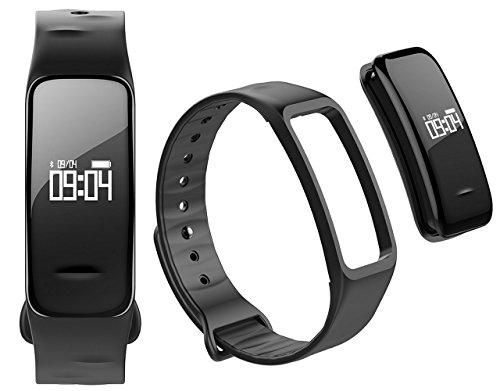 Atlanta Fitness Tracker Armband mit Herzfrequenz GPS Pulsmesser Blutdruck Blutsauerstoff Schrittzähler Smartwatch Armband Uhr 9700 (Schwarz)