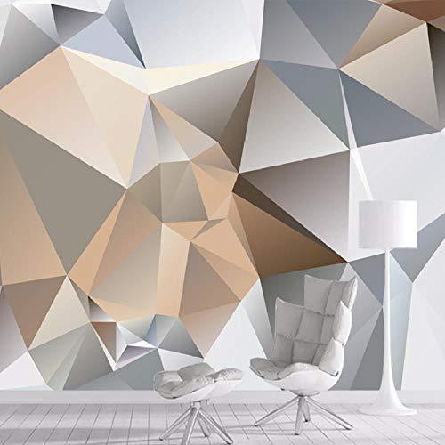 Papel pintado 3D personalizado con patrón de diamante geométrico para pared de papel para sala de estar, TV, sofá, dormitorio, fondo, decoración del hogar, rollos de arte, 200 x 140 cm