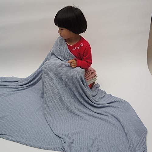 N/B WWTTE Z7-7 du Nouveau-né Couverture for bébé en Coton Enfant en Bas âge Quilt Literie du Nouveau-né Swaddle Wrap, Taille: 120 * 180cm (Bleu) M (Color : Blue) White