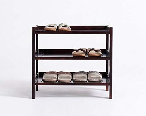 Staande bloemen Shoe Rekken Rekken Rekken multilayer stevig hout Simple planken Vergadering Multipurpose Schoenenkasten (Kleur: wit, zwart, bruin, Maat: 3/4/5 lagen, Verpakking van 1)