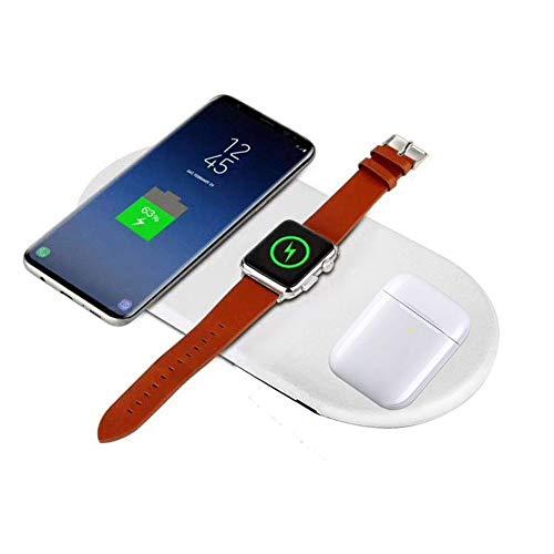 Sararoom Cargador inalámbrico 3 en 1 Wireless Charger/Qi Cargador inalámbrico rápido para iPhone X/XS/iPhone 8 / 8Plus y Otros Qi Dispositivos