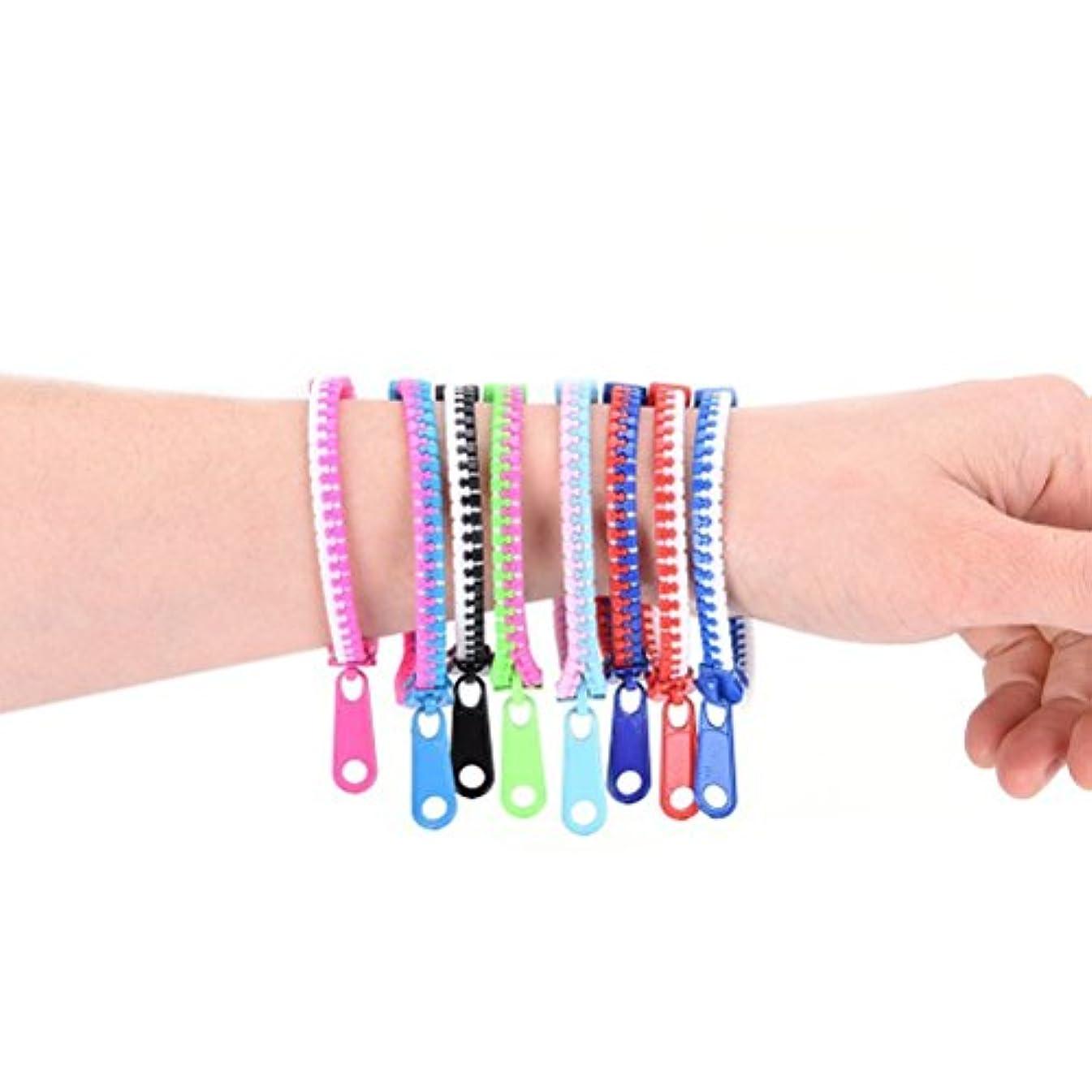 20pcs Assorted Color Zipper Bracelet / Friendship Bracelet / Party Bracelet - Fidget Bracelet Hand Sensory Toys(Random Color)