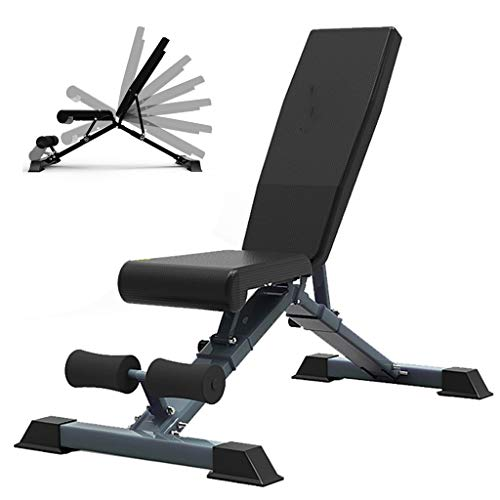 Bancos ajustables Mancuerna Banco Home Fitness Equipment Sit-up Junta Multifuncional For Sillas De Fitness Gimnasio Equipos For Hombres Y Mujeres Fuerte Carga Capacidad De Carga